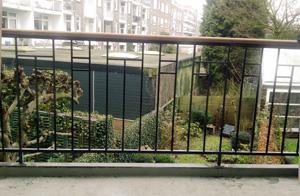 Stalen balkonhek
